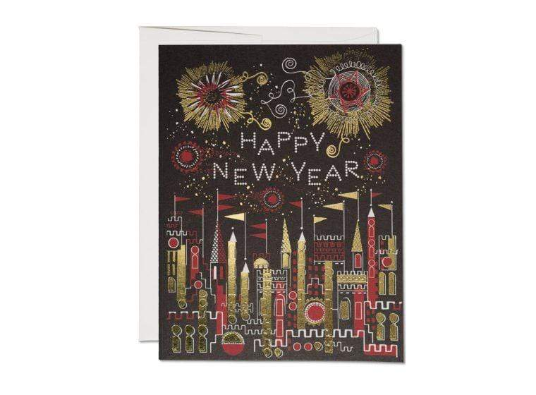 RED CAP CARDS GOLDEN FIREWORKS CARD - LOCAL FIXTURE