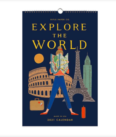 Rifle Paper Co 2021 Explore the World Wall Calendar - LOCAL FIXTURE