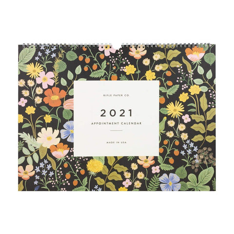 Rifle Paper Co 2021 Wild Garden Appointment Calendar - LOCAL FIXTURE