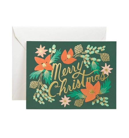 RIFLE PAPER CO. MERRY CHRISTMAS WINTERGREEN - LOCAL FIXTURE