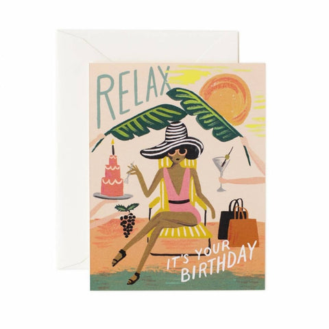 RIFLE PAPER CO. RELAX CARD - LOCAL FIXTURE
