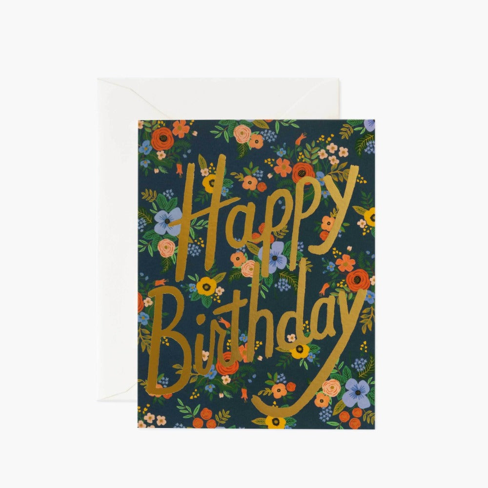 RIFLE PAPER GARDEN BIRTHDAY CARD - LOCAL FIXTURE