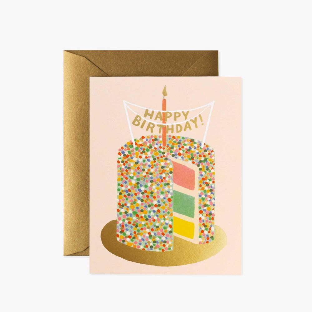 RIFLE PAPER LAYER CAKE BIRTHDAY CARD - LOCAL FIXTURE