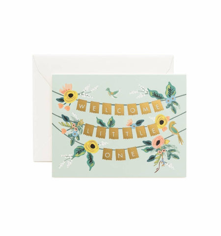 RIFLE PAPER WELCOME GARLAND BABY GREETING CARD - LOCAL FIXTURE