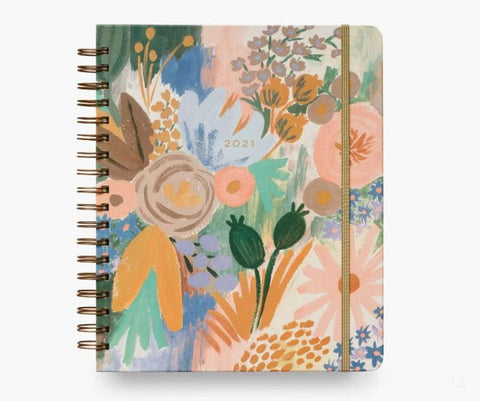 Rifle Paper Co 2021 Luisa Hardcover Spiral Planner - Large - LOCAL FIXTURE