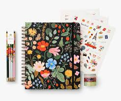 Rifle Paper Co 2021 Strawberry Fields Hardcover Spiral Planner - Large - LOCAL FIXTURE