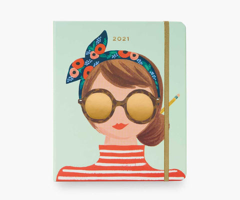 Rifle Paper Co 2021 Type A Covered 17-Month Planner - LOCAL FIXTURE