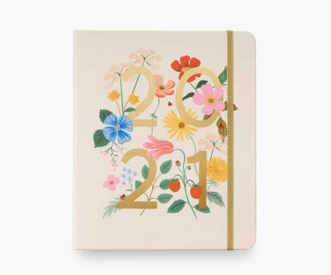 Rifle Paper Co 2021 Wild Garden Covered 17-Month Planner - LOCAL FIXTURE
