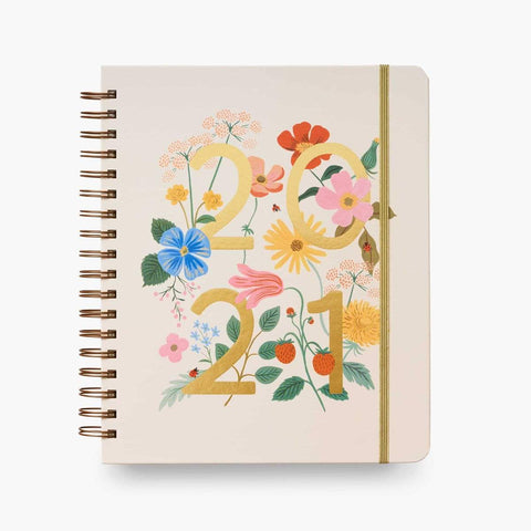 Rifle Paper Co 2021 Wild Garden Hardcover Spiral Planner - LOCAL FIXTURE