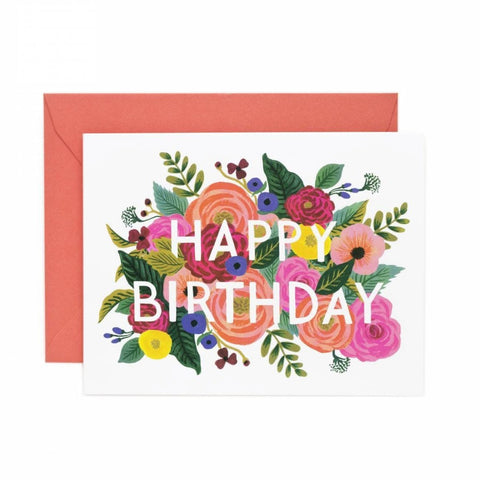 RIFLE PAPER JULIET ROSE BIRTHDAY CARD - LOCAL FIXTURE