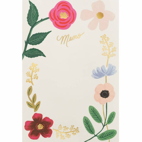 RIFLE PAPER CO. EVERYDAY MEMO NOTEPAD WILDFLOWERS - LOCAL FIXTURE