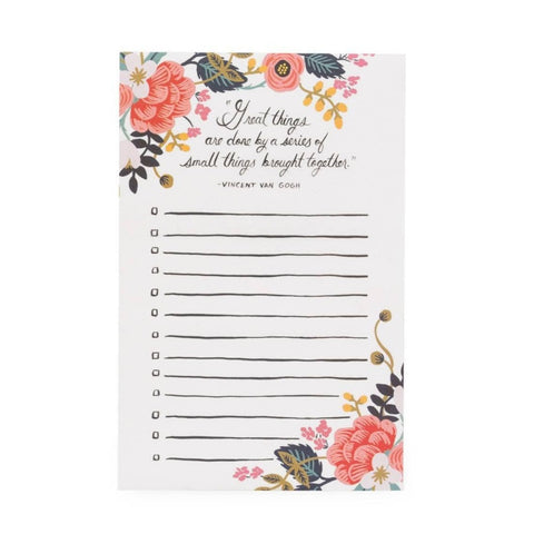 RIFLE PAPER CO. GREAT THINGS NOTEPAD - LOCAL FIXTURE