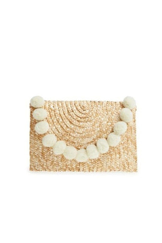 SHIRALEAH FORTUNA CLUTCH, NATURAL - LOCAL FIXTURE