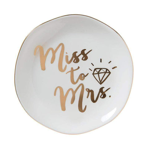 "SLANT COLLECTIONS ""MISS TO MRS"" TRINKET TRAY - LOCAL FIXTURE"