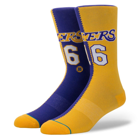 STANCE LAKERS SPLIT JERSEY SOCKS - LOCAL FIXTURE