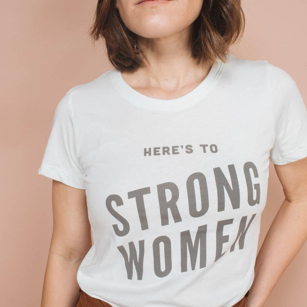 THE BEE AND THE FOX CLOTHING The Bee & The Fox Here's to Strong Women | Fitted Crewneck