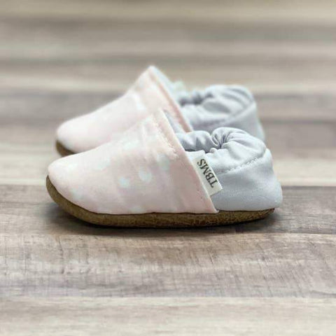 Pastel Pink Dot Baby Moccasins - LOCAL FIXTURE