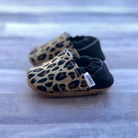 Tan Leopard Baby Moccasins - LOCAL FIXTURE