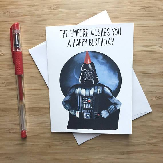 YEAOH GREETINGS DARTH VADER BIRTHDAY CARD - LOCAL FIXTURE