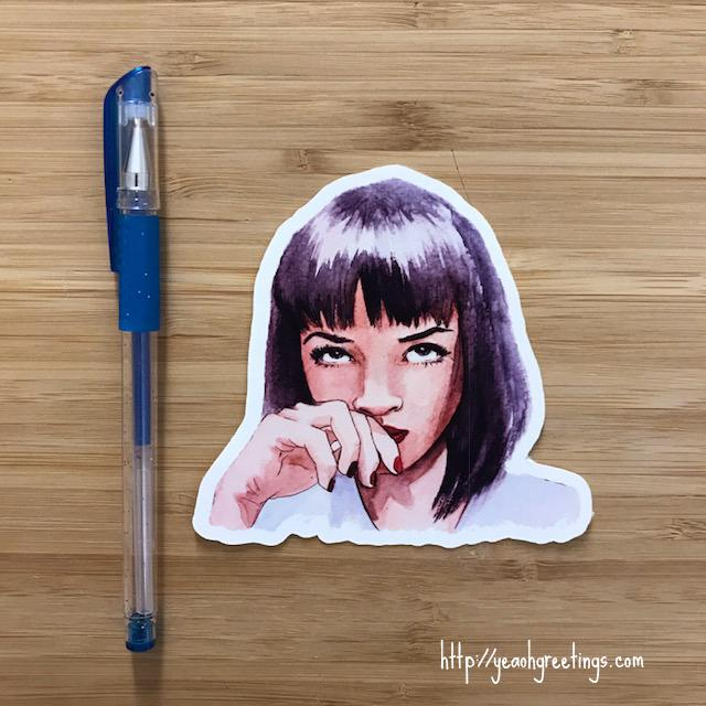 YEAOH GREETINGS MIA WALLACE CUTE STICKER - LOCAL FIXTURE