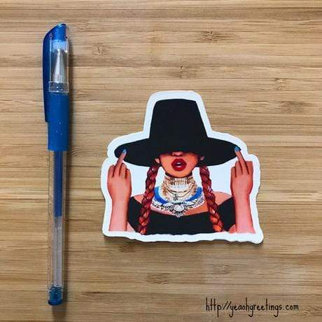 YEAOH GREETINGS Beyonce Vinyl Sticker - LOCAL FIXTURE
