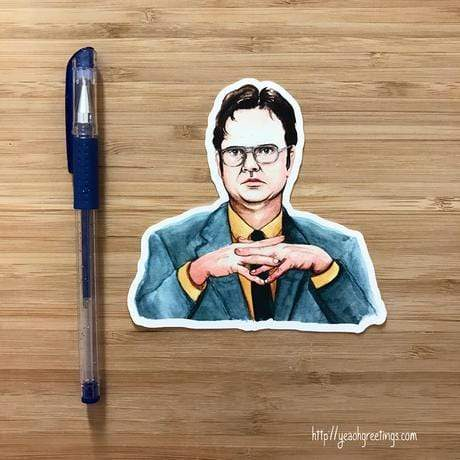 YEAOH GREETINGS Dwight Schrute Office Sticker - LOCAL FIXTURE