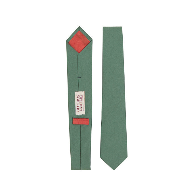 GLENDON LAMBERT  |  Bright Lights Necktie in Army Green