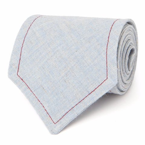NEAPOLITAN STITCH COTTON LINEN: BLUE