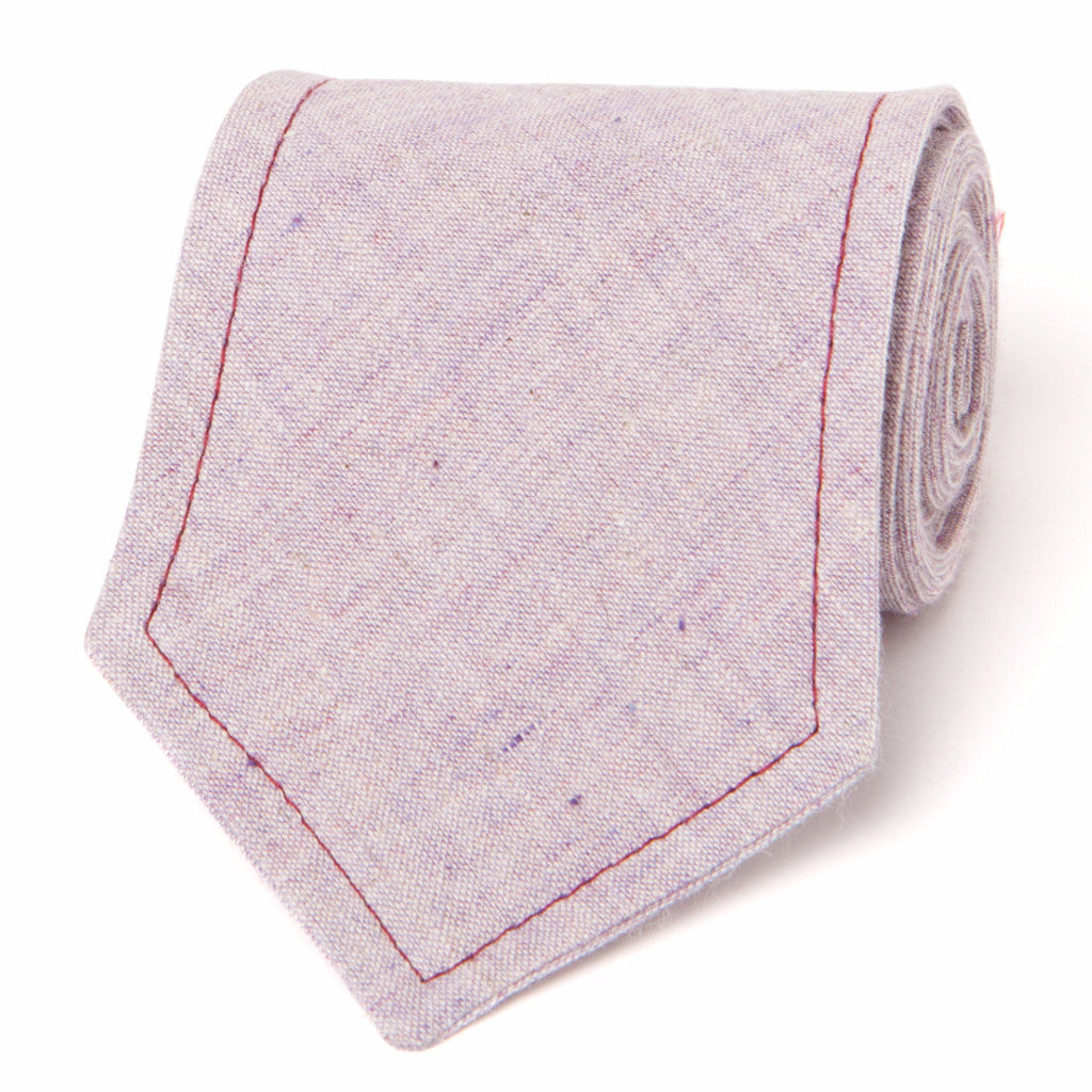 NEAPOLITAN STITCH COTTON LINEN: PURPLE