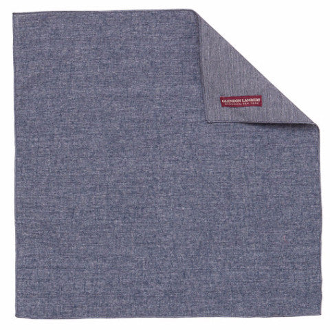 CHAMBRAY HANDKERCHIEF: NAVY