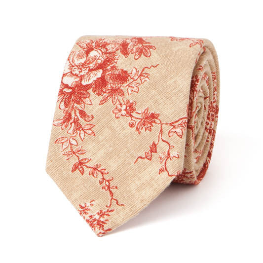 Necktie: Chateau Toile in Gold