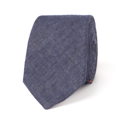 Necktie: Yarn-Dyed Gauze in Blue