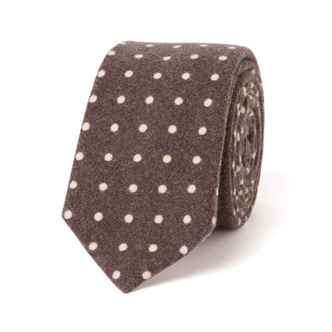 FLANNEL DOTS: BROWN