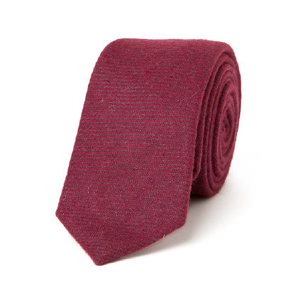 Necktie: Holiday Exclusive in Maroon