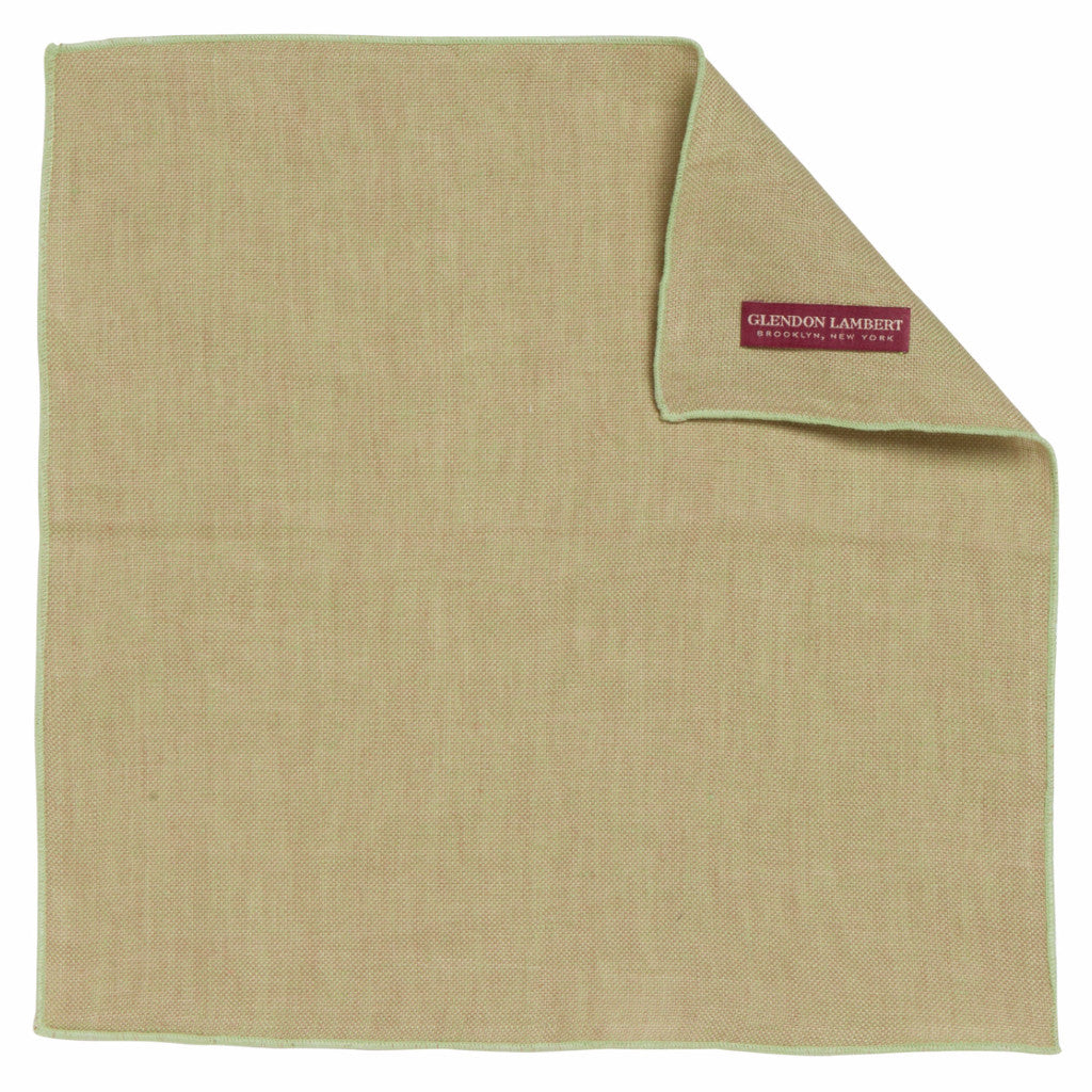 LINEN OSTERREICH POCKET SQUARE: LIGHT GREEN