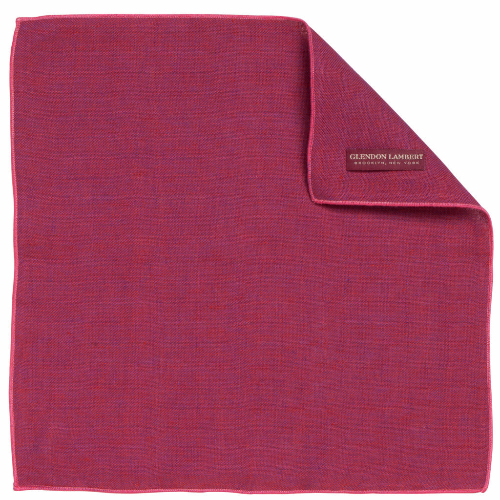 LINEN OSTERREICH POCKET SQUARE: FUSCHIA