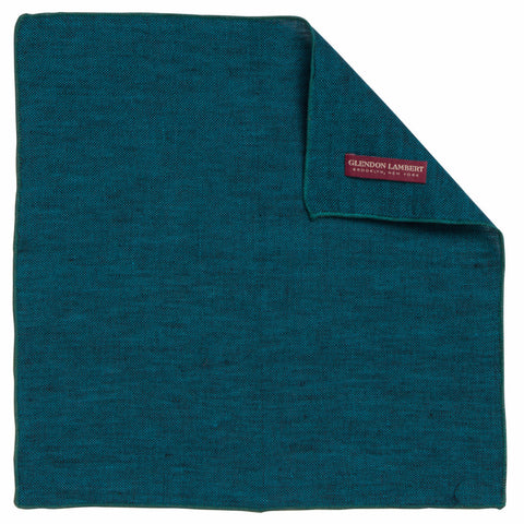LINEN OSTERREICH POCKET SQUARE: TEAL