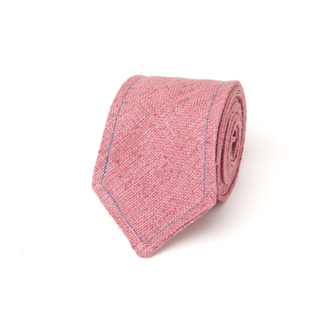 NEAPOLITAN STITCH RAW SILK: PINK