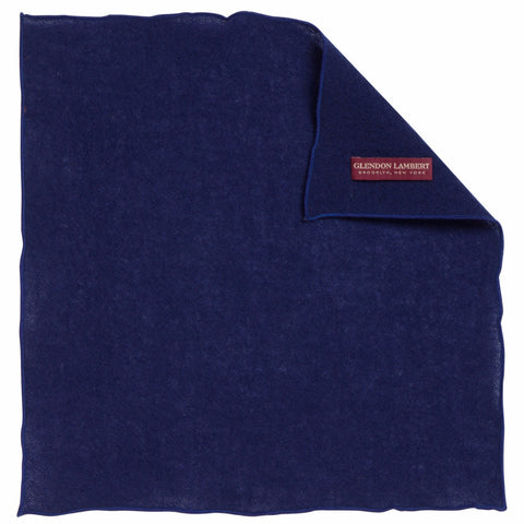 BRIGHT LIGHTS WOOL MESH POCKET SQUARE: BLUE