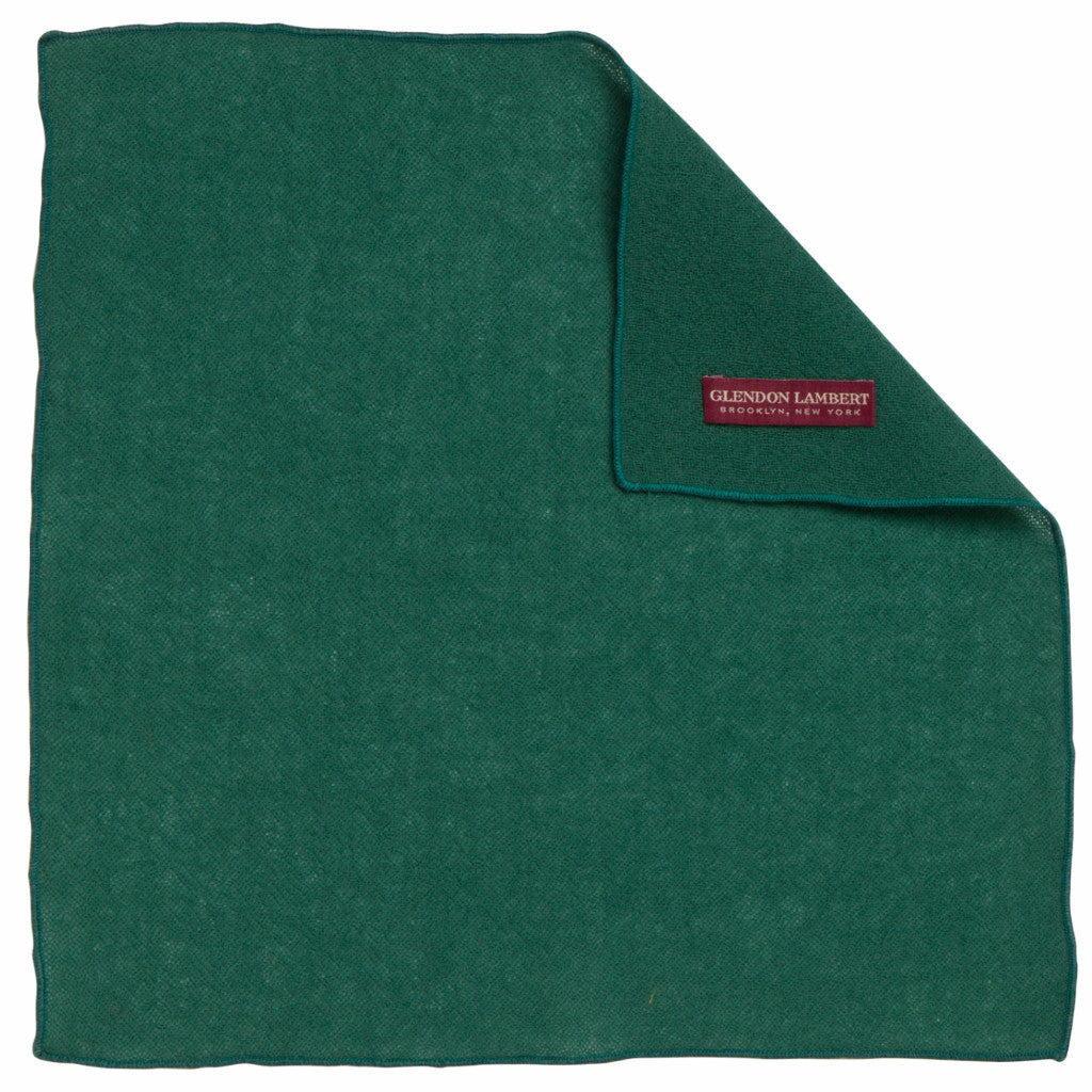 BRIGHT LIGHTS WOOL MESH POCKET SQUARE: GREEN
