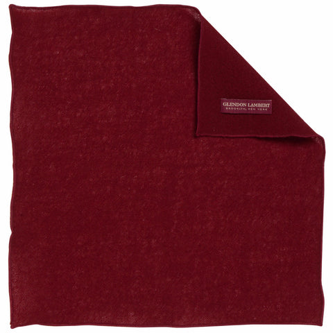 BRIGHT LIGHTS WOOL MESH POCKET SQUARE: MAROON