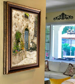 "Load image into Gallery viewer, ""Chair at the Door"" FRAMED CANVAS ARTIST SIGNED 24""x 32"""