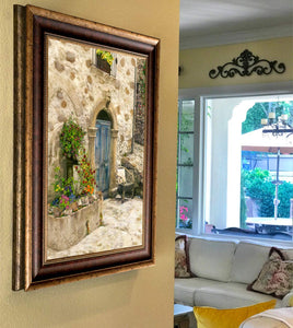 """Chair at the Door"" FRAMED CANVAS ARTIST SIGNED 24""x 32"""