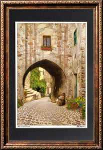 Arch with Wine framed art