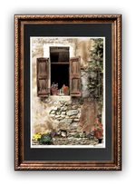 "Load image into Gallery viewer, ""Bird Cage in the Window"" Signed Matted & Framed"
