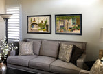 "Load image into Gallery viewer, ""Claudette's Door and Window"" Premium Large Giclée Print Framed 27 X 37"
