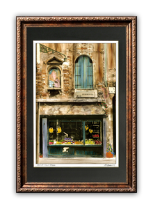 """Corner Fruit Store"" Signed Matted & Framed"