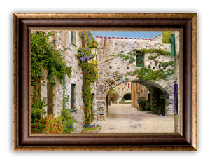 """Rock Alleyway"" FRAMED CANVAS ARTIST SIGNED 24""x 32"""