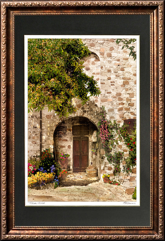 """Tuscan Wine"" Signed Matted & Framed"