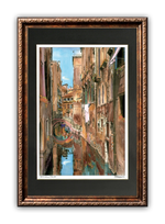 "Load image into Gallery viewer, ""Textured Canal"" Signed Matted & Framed"